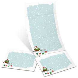 Holiday Owl Fold-Up Invitations