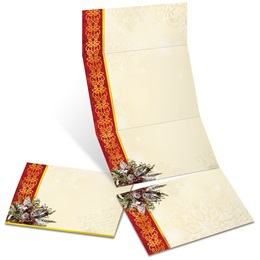 Christmas Cardinal Fold-Up Invitations