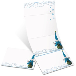 Twiggy Snowman Fold-Up Invitations