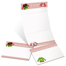 Ugly Christmas Sweater Fold-Up Invitations