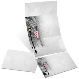 Patriotic Park Scene Fold-up Invitations