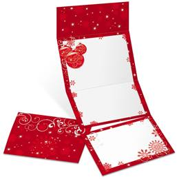 Scarlet Elegance Fold-Up Invitations