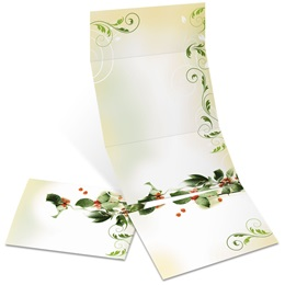 Holiday Holly Fold-Up Invitations