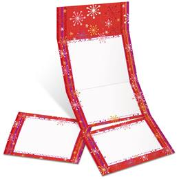 Razzle Dazzle Red Fold-Up Invitations