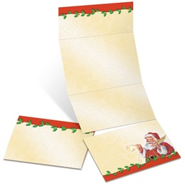Old Fashioned Santa Fold-Up Invitations