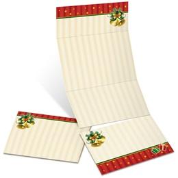 Tiny Christmas Fold-Up Invitations