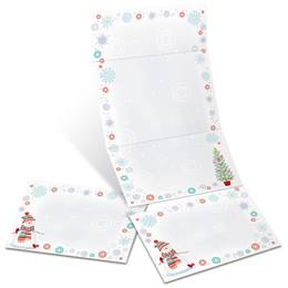 Snowman Delight Fold-Up Invitations