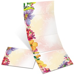 Brilliant Bouquet Fold-Up Invitations