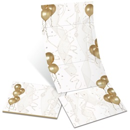 Gold Balloons Fold-Up Invitations