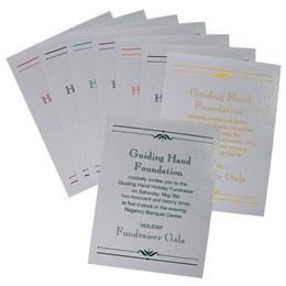 White Dazzle Invitation - Formal Invitations - Announcements