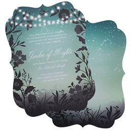 Garden Lights Scalloped Invitation
