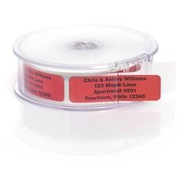 Red Rolled Foil Address Labels