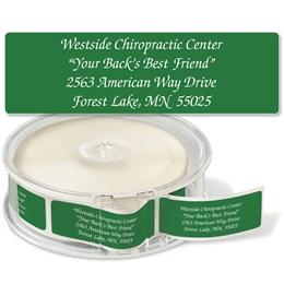 Green Rolled Foil Address Labels
