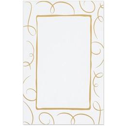 Loops Specialty Gold Flat Menu Cards