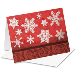 Elegant Snowflakes Notecards