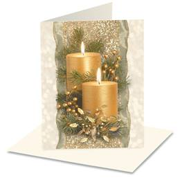 Golden Glimmer Holiday Notecards