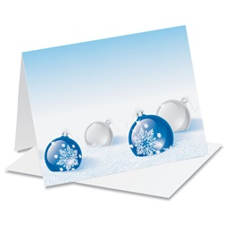 Cobalt Christmas Holiday Notecards