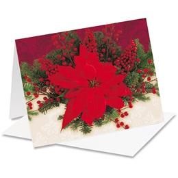 Pretty Poinsettia Notecards
