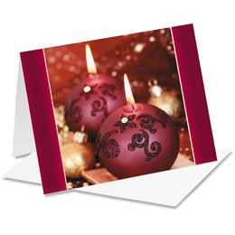 Cranberry Lights Notecards