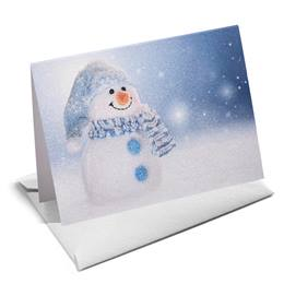 Snowman Shimmer NoteCards