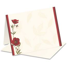 Red Poppies Notecards