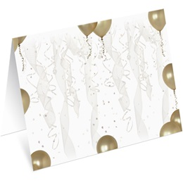 Gold Balloons Notecards