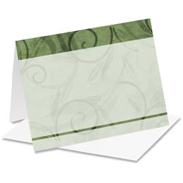 Viridian Scroll Note Cards