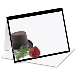 Top Hat Rose Notecards
