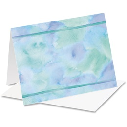Blue Watercolor Notecards