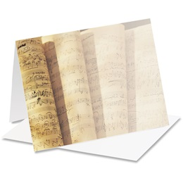 Music Score Notecards