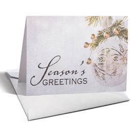 Luminous Holiday Shimmer NoteCards