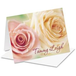 Fresh Bouquet Personalized Notecards