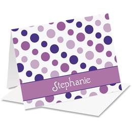 Zippy Dots Personalized Notecards