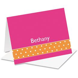 Dot Accents Personalized Notecards