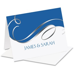 Bright Swirls Personalized Notecards
