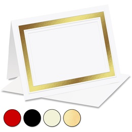 Pristine Foil Embossed Specialty Notecards