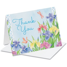 Iris Party Thank You Notecards