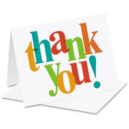 Bright Thank You Thank You Notecards