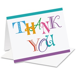 Vibrance Thank You Notecards