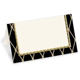 Supreme Black Folded Place Cards