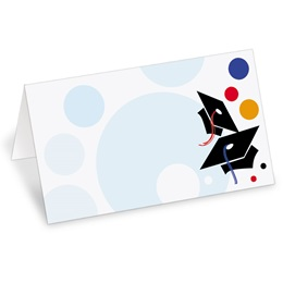 Festive Graduation Folded Place Cards