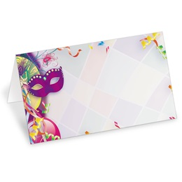 Fat Tuesday Folded Place Cards
