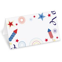 Patriotic Party Folded Place Cards