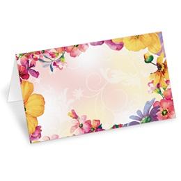 Brilliant Bouquet Folded Place Cards