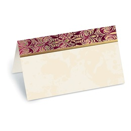 Marquetry Folded Place Cards
