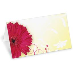 Dancing Daisies Folded Place Cards