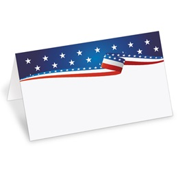 USA Proud Folded Place Cards