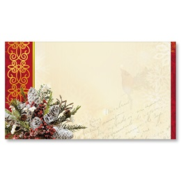 Christmas Cardinal Flat Place Cards
