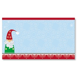 Snowy Santa Flat Place Cards