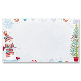 Snowman Delight Flat Place Cards